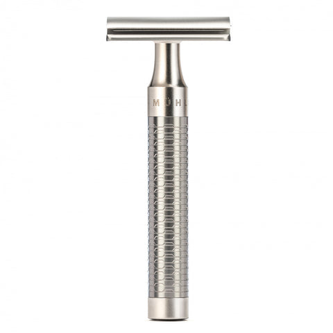 Mühle ROCCA Stainless Steel Shaving set (3-piece with Silvertip Badger)