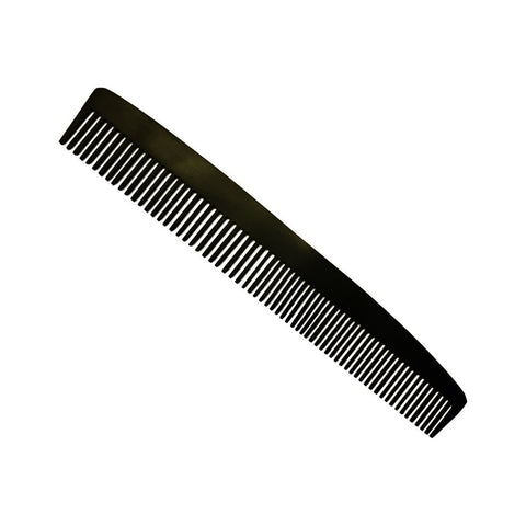 Metal Comb Coarse & Fine 15cm Black