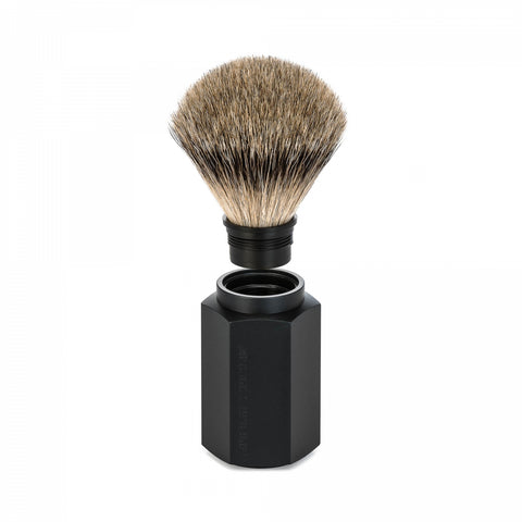 Mühle Hexagon Graphite Silvertip Badger Shaving Brush - FineShave