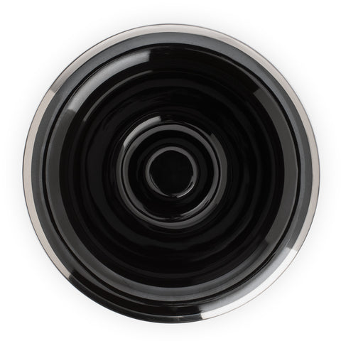 Mühle Shaving Bowl (black porcelain with platinum rim) - FineShave