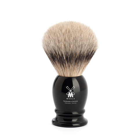 Mühle Silvertip Badger Shaving Brush (Medium Black) - FineShave
