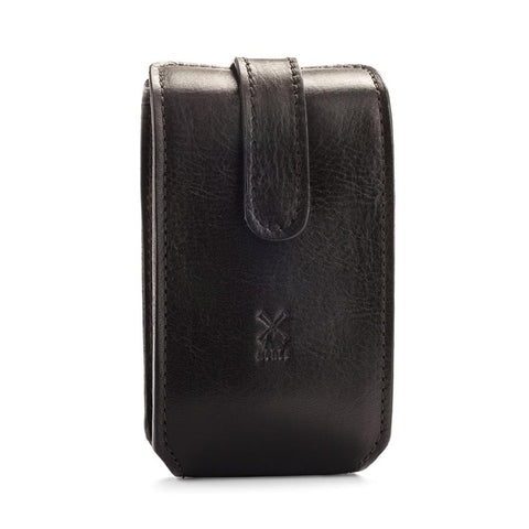 Mühle travel Leather Pouch for Safety Razor & Brush (black) - FineShave