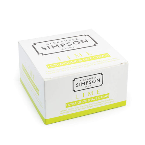 Alexander Simpson Est. 1919 Lime Ultra-Glide Shave Cream 180ml
