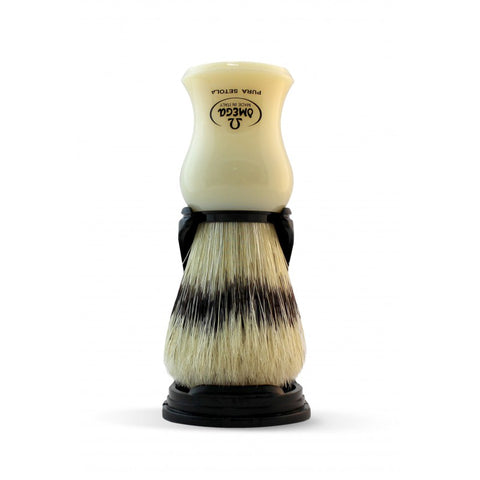 Omega Boar Shaving Brush with Stand (Ivory) 80266 - FineShave