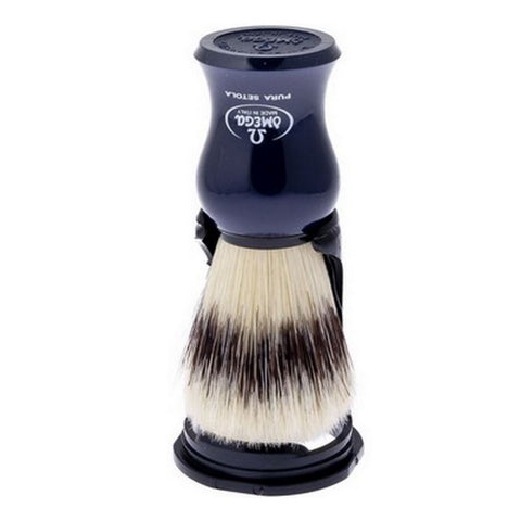 Omega Boar Shaving Brush with Stand (Blue) 80265 - FineShave