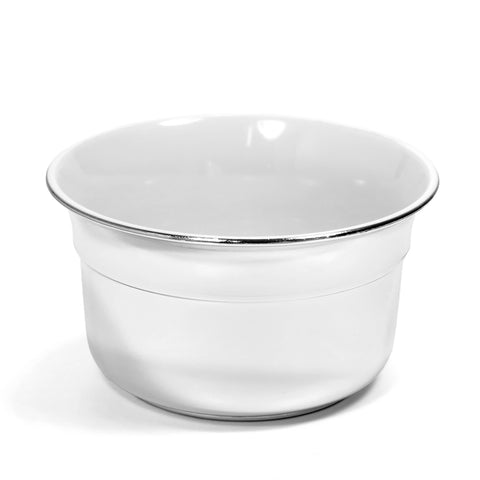 Omega Shaving Bowl Chrome - FineShave