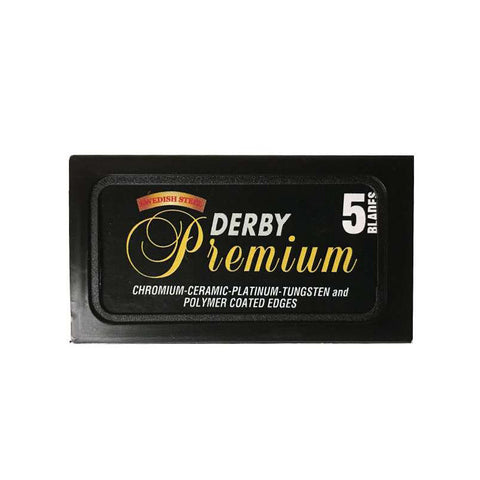 Pack of 5x Derby Premium Razor Blades - FineShave