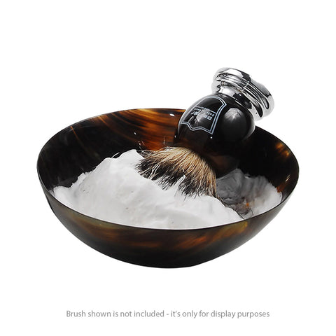 Parker Genuine Ox Horn Palm Lathering Shave Bowl