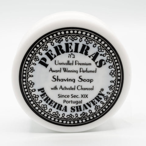 Pereiras Shaving Soap with activated Charcoal 100g (Orange & Cinnamon) - FineShave