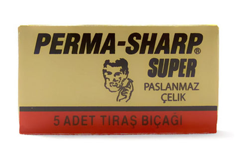 Pack of 5x Perma-sharp Super Razor Blades - FineShave