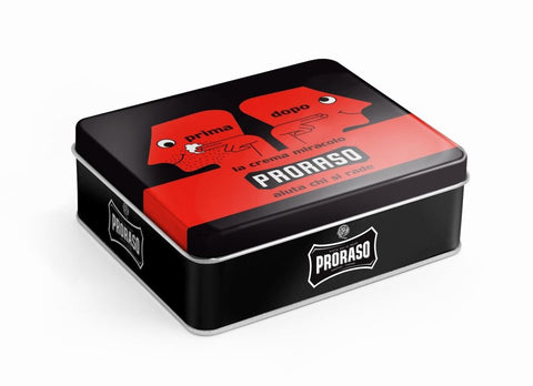 Proraso 3 piece Vintage Gift Box (Red - Sandalwood) - FineShave