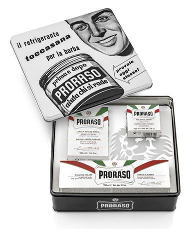 Proraso 3 piece Vintage Gift Box (White - Sensitive) - FineShave