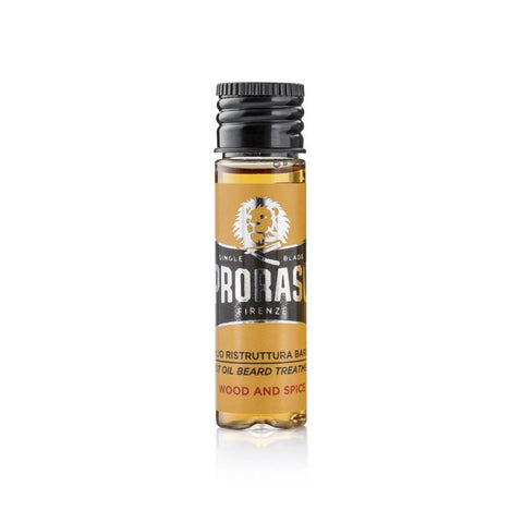Proraso Beard Hot Oil Treatment Wood and Spice (One Sample 17ml) - FineShave