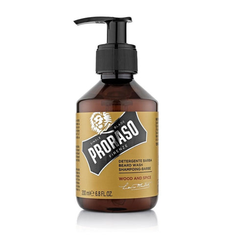 Proraso Beard Wash Wood and Spice 200ml - FineShave