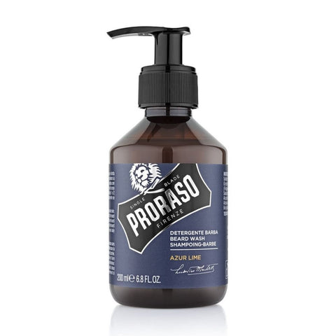 Proraso Beard Wash Azur Lime 200ml - FineShave
