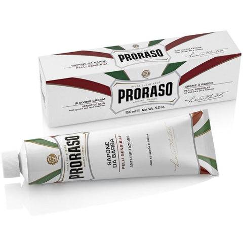 Proraso Sensitive Green Tea & Oat Shaving Cream Tube - FineShave