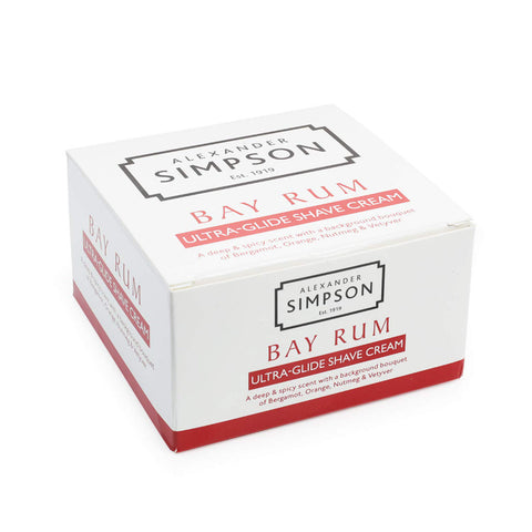 Alexander Simpson Est. 1919 Bay Rum Ultra-Glide Shave Cream 180ml