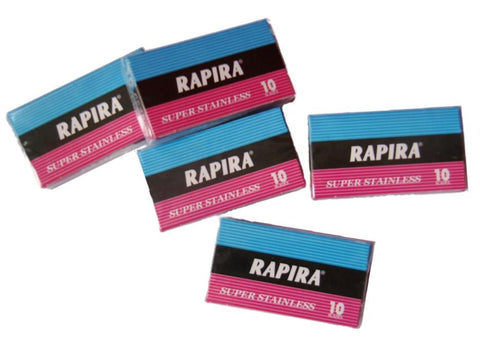 50x Rapira Super Stainles Razor Blades (New Style) - FineShave
