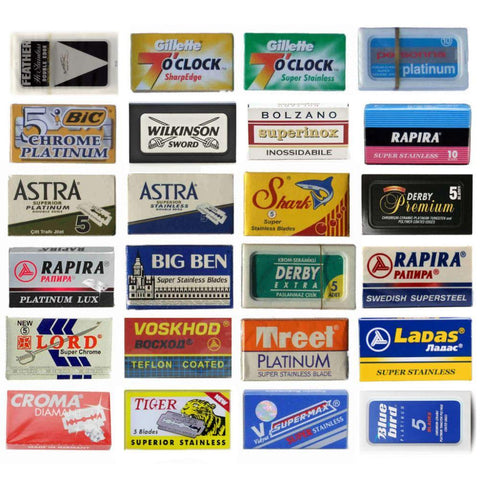 Sampler Pack of 140x DE Razor Blades