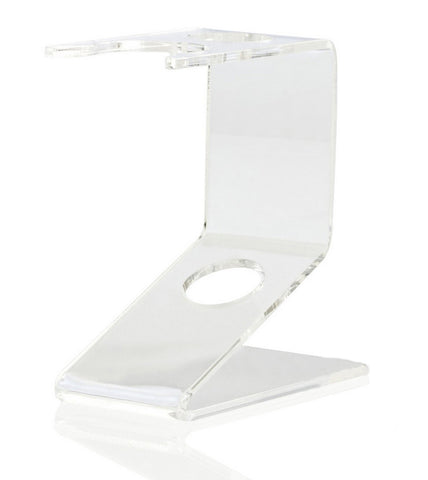 Razor & Brush Stand (clear plastic - small) - FineShave