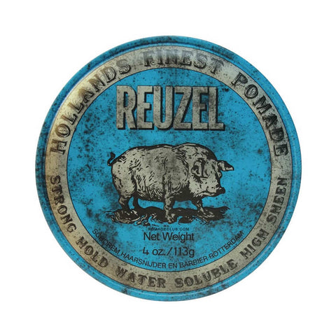 Reuzel Blue Pomade Strong Hold High Shine 113gr - FineShave