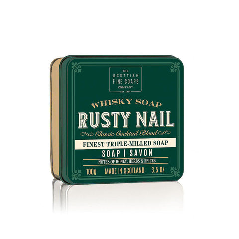 Scottish Fine Soaps - Whisky Cocktail (Rusty Nail) Soap in a Tin 100gr - FineShave