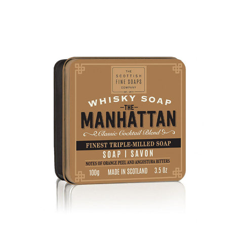 Scottish Fine Soaps - Whisky Cocktail (The Manhattan) Soap in a Tin 100gr - FineShave
