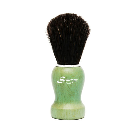 Semogue Pharos C3 Pure Black Horse Shaving Brush (Ocean Green)