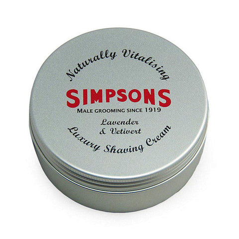 Simpsons Lavender & Vetivert Luxury Shaving Cream 125ml - FineShave