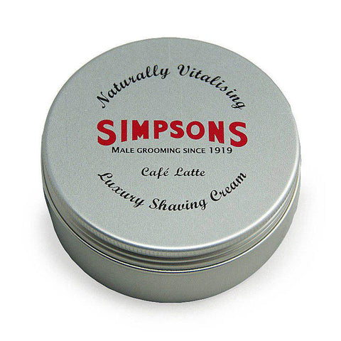 Simpsons Cafe Latte Luxury Shaving Cream 125ml - FineShave