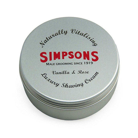 Simpsons Vanilla & Rose Luxury Shaving Cream 125ml - FineShave