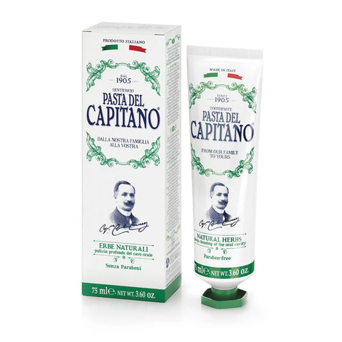 Pasta del Capitano 1905 Toothpaste - Natural Herbs 75ml - FineShave