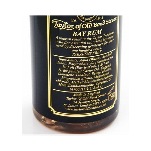 Taylor Of Old Bond Street Bay Rum Aftershave 150ml - FineShave