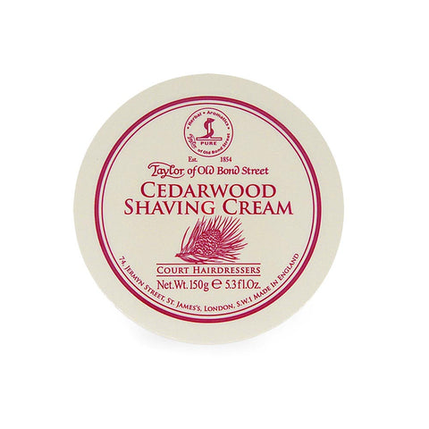 Taylor of Old Bond Street Cedarwood Shaving cream Bowl - FineShave