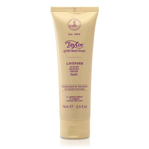 Taylor of Old Bond Street Lavender Shaving cream 75ml Tube - FineShave