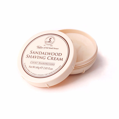Taylor of Old Bond Street Sandalwood Shaving cream (60g tub) - FineShave