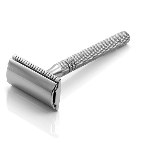 Timor Safety Razor with 100mm Stainless Steel Handle (Closed Comb) - FineShave