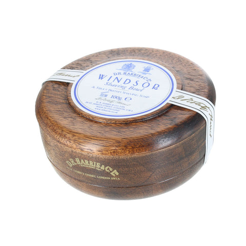 D R Harris Windsor Shaving Soap Bowl (Mahogany) - FineShave