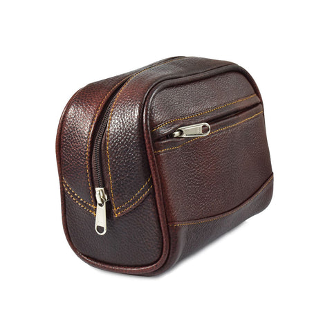 Parker Large Leather Toiletry Bag