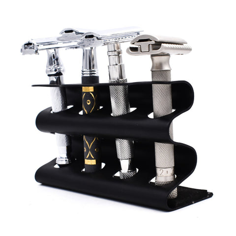 Parker Deluxe Black Safety Razor Caddy