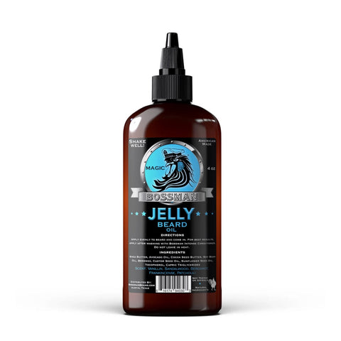 Bossman Jelly Beard Oil Magic Blue 118ml - FineShave