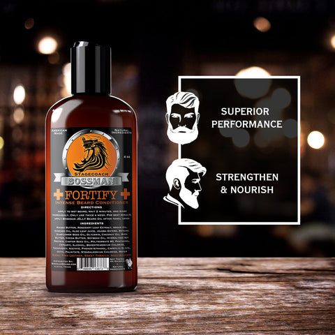 Bossman Fortify Intense Beard Conditioner Stagecoach 118ml - FineShave