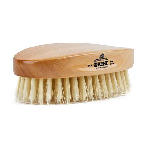Kent Travel Brush Pure White Bristle - Oval Beech MC4 - FineShave