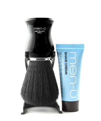 men-ü PRO BLACK Shaving Brush (non-animal) - FineShave