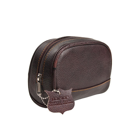 Parker Small Leather Toiletry Bag