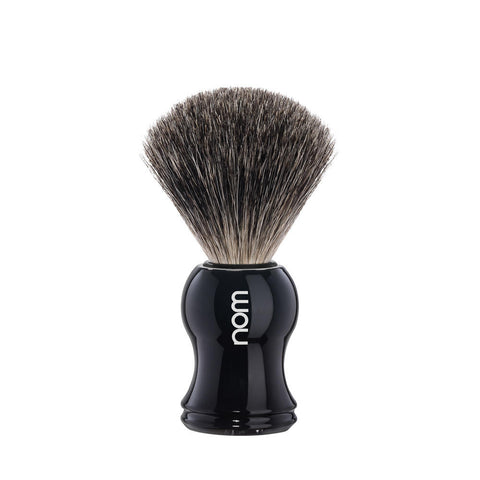 nom Gustav Badger Shaving Brush Black - FineShave