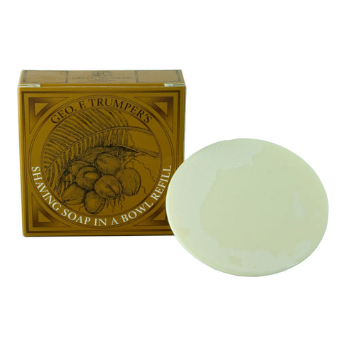 Geo. F. Trumper Coconut Oil Hard Shaving Soap 80g REFILL - FineShave