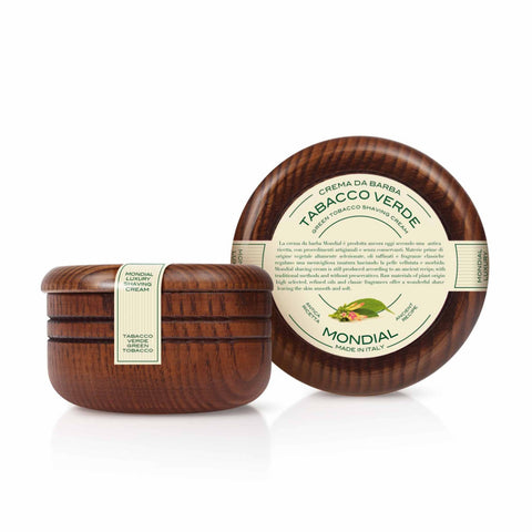 Mondial Green Tobacco Luxury Shave Cream (Wooden Bowl 140ml) - FineShave