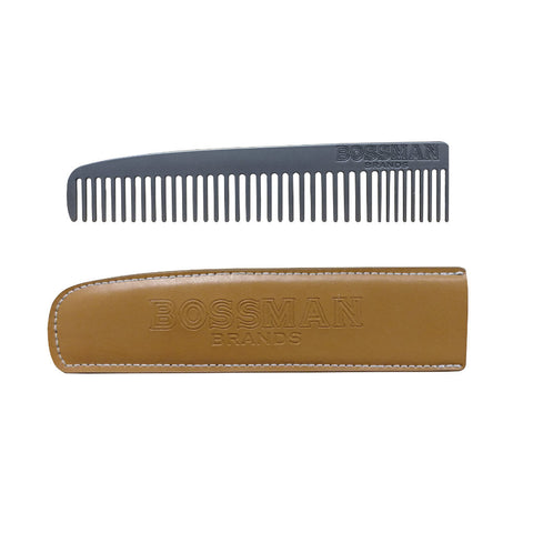 Bossman Metal Beard and Moustache Comb - FineShave