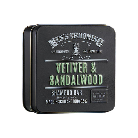 Scottish Fine Soaps (Vetiver & Sandalwood) - Shampoo Bar 100g